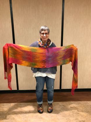 Billie M - Shawl made with hand-painted fiber