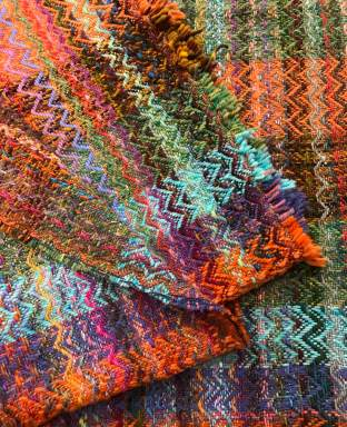 Billie M - Double-width-woven yardage for garment from fiber stash