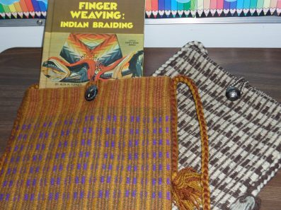 Gay A - Two bags finger-woven by Alta Turner in the 1970s