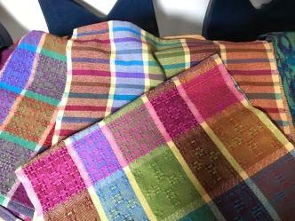 Jennifer C - Eight-harness huck lace in 8/2 cotton sett at 20 epi; plain weave color study