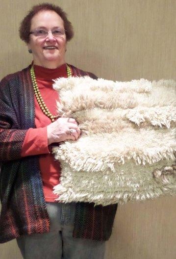 BevA - Floor pillow with Rya knots