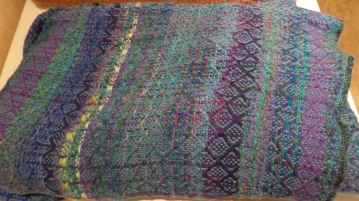 BillieM - 8-harness double-width-woven blanket in wool