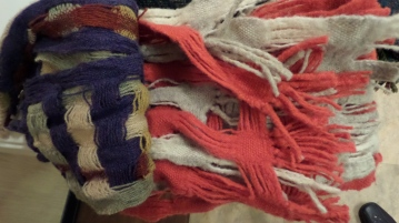 DoritaF - Deflected doubleweave scarves