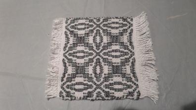 ElizabethQ - Overshot coaster in 3/2 cotton