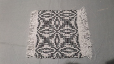 ElizabethQ - Overshot coaster in 3/2 cotton