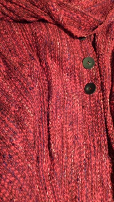 EllenGB - Cape and cowl woven with cotton, rayon slub, and cottolin slub