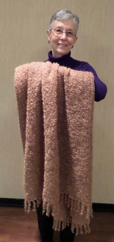 GayA - Throw in loopy mohair woven in plain weave sett at 6 epi