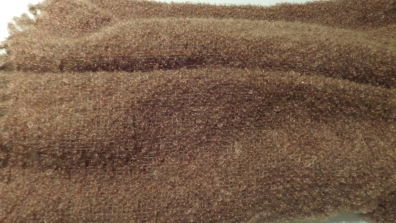 GayA - Detail of throw in loopy mohair woven in plain weave sett at 6 epi