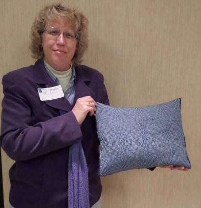 JenniferJ - Shadowweave pillow woven in 5/2 cotton