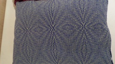 JenniferJ - Detail of shadowweave pillow woven in 5/2 cotton