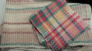 SueZ - Waffle weave kitchen towel and dishcloth