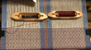 "SuzanneW - ""Illusion of Texture"" towel on loom, when in dornick twill using 8/2 cotton"