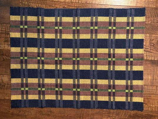 Diane's fabric off the loom