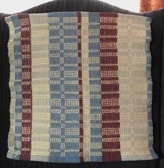 Chris M - Summer & Winter towel woven on 4 shafts using 8/2 and 4/2 cotton, sett at 15 epi.