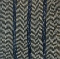 Chris M - Closeup of twill towel woven with 4 shafts in 4/2 dip-dyed cotton, sett at 15 epi.