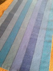 Gay A - Towel woven in 4-shaft 2/2 twill with 8/1 cotton, sett at 18 epi.