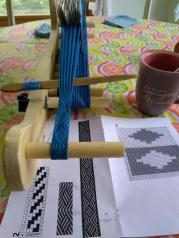 Jennifer J - Tablet-woven band using Egyptian pattern from John Mullarkey's collection, woven in 8/2 unmercerized cotton using 20 cards.
